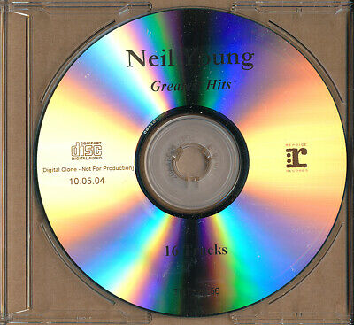 Neil Young Greatest Hits MEGA RARE promo acetate advance CD '04 (never played)