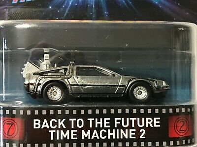 Hot Wheels Retro Back To The Future Time Machine 2 With Rubber Tires