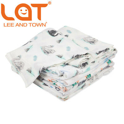 LAT Muslin Toddler Baby Infant Wrap sleepsack Swaddle Stroller Blanket 120x120cm