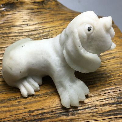 117g China's exquisite hand-carved dushan jade dog a30 74x41mm