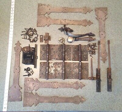 Antique Church Door Brass Hardware Russwin Warden Hinges Arts And Crafts Gothic