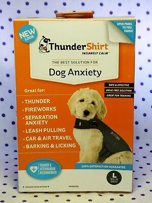Thundershirt Comfort Calm Dog Anxiety Solid GRAY Size Lg For dogs 41-64 lbs NEW