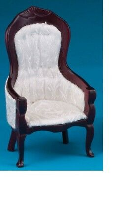Dollhouse Miniatures 1:12 Scale Victorian Gent's Chair, Mahogany #CLA10699