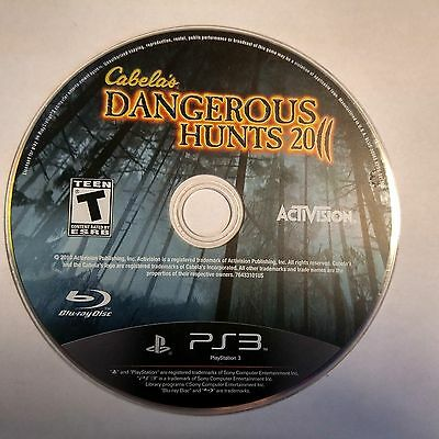 Cabela's Dangerous Hunts 2011 (Sony PlayStation 3, 2010) DISC ONLY 5850