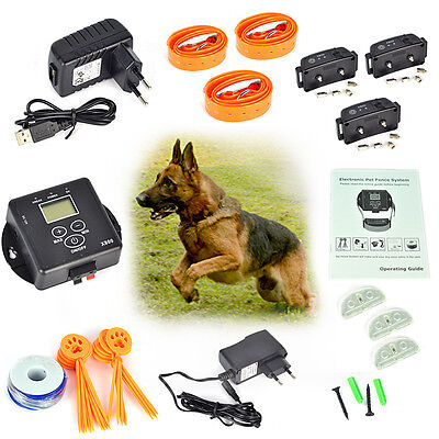 Wireless Waterproof Underground Electric Pet Dog Fence Fencing Shock Collar Syst