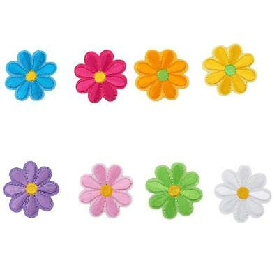 Embroidery Flower Sew Iron On Patch DIY Badge Clothes Fabric Applique New SO