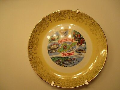 CATALINA ISLAND AVALON CALIFORNIA PLATE VINTAGE 10 x 10 INCHES COLLECTIBLE