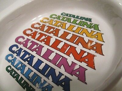 ASH TRAY CATALINA ISLAND VINTAGE 5 x 5 1 INCHES HEAVY THICK SOUVENIR