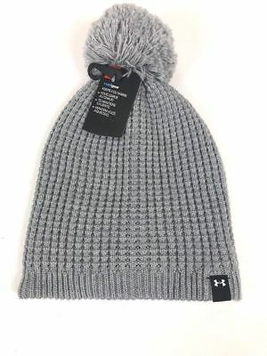 9656cdc2565b55 Under Armour UA Womens Beanie Hat Toboggan - Cold Gear - Gray - Soft Knitted