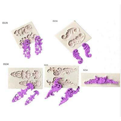 DIY 3D Lace Flower Silicone Mold Fondant Cake Baking Tools Pastry Mould SO