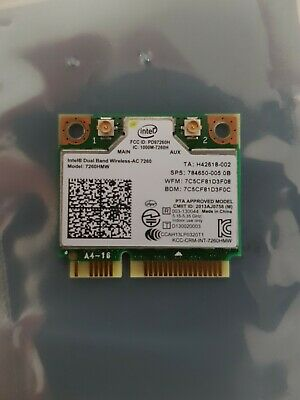 Intel Dual Band Wireless-AC 7260HMW 2x2 Wifi Bluetooth 4.0 867Mbps PCI-E Card