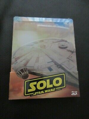 Solo: A Star Wars Story 3D- Blu-ray Italian Steelbook NEW