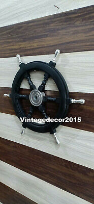 Nautical  Wooden Ship Wheel Boat  Steering  Maritime Handcrafted Wall Decor