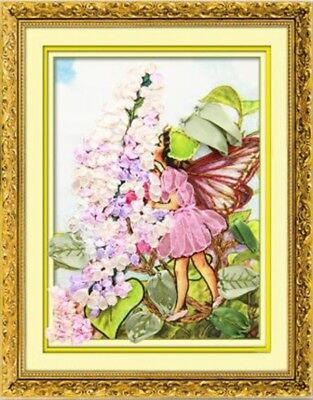 "DIY Ribbon Embroidery Kit Flower Fairy 30x40CM (11,8""x15,7"") Easy for Beginner"