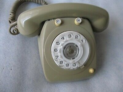 Vintage Rotary Dial Grey Telephone, Desk office, PMG 8221 S315/22