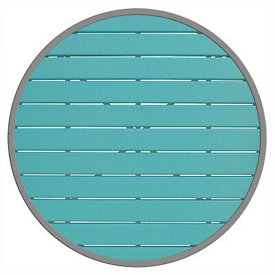 """New Caribbean Collection 36"""" Round Outdoor Silver Frame Table Top"""