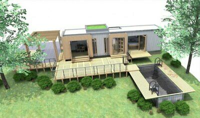 1 Bd/1 Bth 320 Sq.ft  Luxury  Shipping Container Hm With Pool !