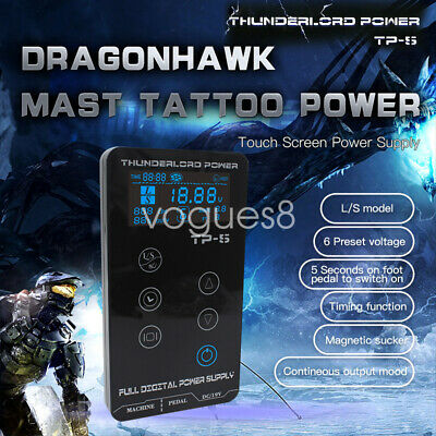 High Quality Tattoo Power Supply Touch Screen Intelligent Digital LCD Dual V
