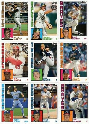 2019 Topps Series 1 1984 Topps 35th Anniversary Cards YOU PICK COMPLETE YOUR SET