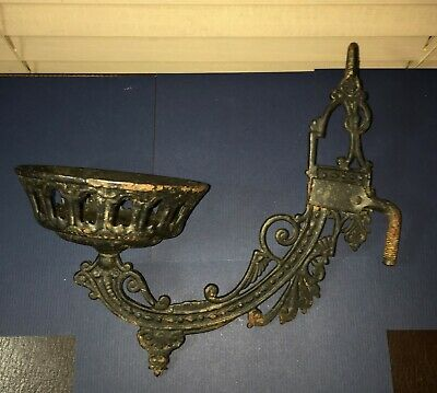 Antique Gothic Cast Iron Swinging Decorative Fixture Arm Candle Holder 19thCent