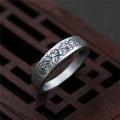 Solid 925 Sterling Silver Spinner Ring Flowers Pattern 3 Tone Spin Jewelry gu125