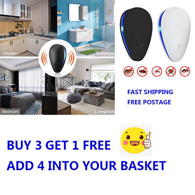 Ultrasonic Pest Repeller Plug in Electronic Repellent Rat Mouse Spider Insect NE