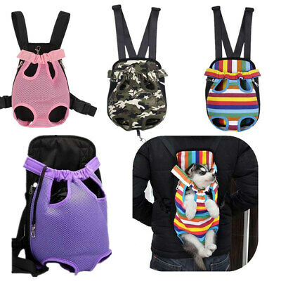 Pet Dog Nylon Mesh Outdoor Travel Backpack Puppy Cat Front Tote Carrier Net Bag