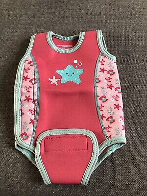 Baby Girl's Mothercare Swimming Wetsuit/Body Warmer Age 3-6 Months. Great Condit