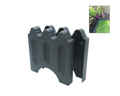 Linic 20x Blue Brick Grey Colour Plastic Garden Border/Lawn Edging UK Made X8171