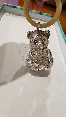 Antique Bear Baby Rattle With No Markings.