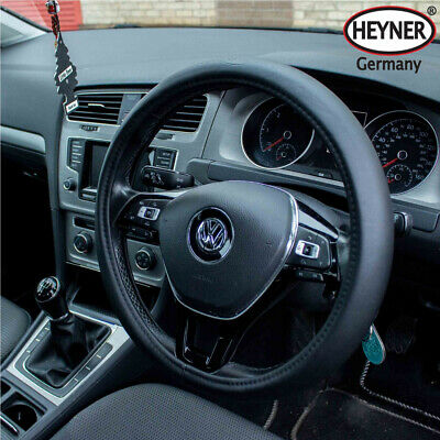 Quality car steering wheel cover 37-39cm quality look soft faux leather BLACK