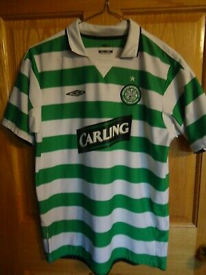 ac528de87 CELTIC FOOTBALL CLUB UMBRO VINTAGE Soccer S S JERSEY Youth XL Carling