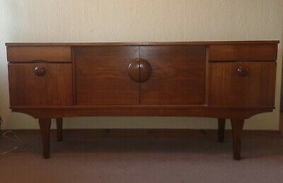 Vintage Retro 1950s 1960s 1970s Teak Sideboard Mid 20th Century Furniture