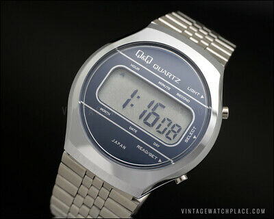 New Old Stock Q&Q lcd digital retro vintage watch working perfect In box NOS