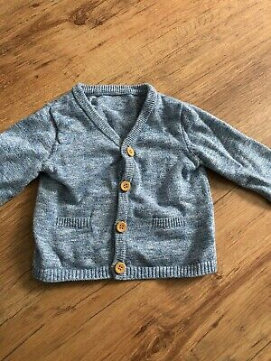 Mothercare Baby Boy Cardigan Blue 3-6months