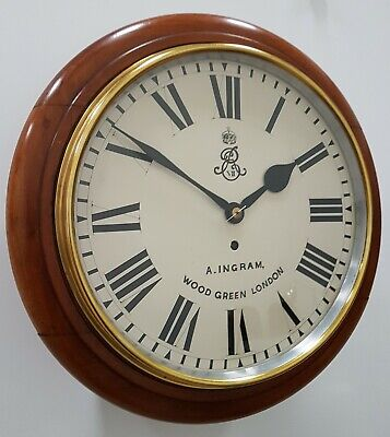 A Rare Early 1900s Edward VII Government Issue Fusee Dial Clock by Ingram.