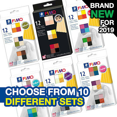 Fimo Effect/soft/professional Colour Packs 12 Or 24 Blocks