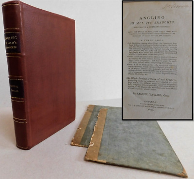 Angling In All It's Branches, Rare 1800 1st Edition, London, Samuel Taylor
