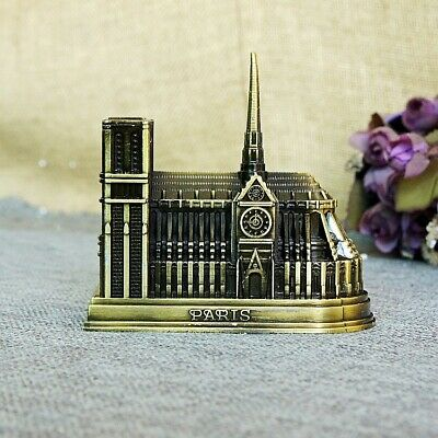 Cathedral Notre Dame DE Paris France Tourism Souvenir 3D Metal Model Craft GIFT