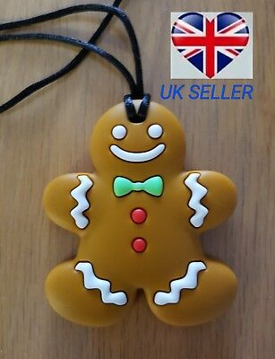 Gingerbread man chew sensory Autism/ADHD Toy Chew Necklace