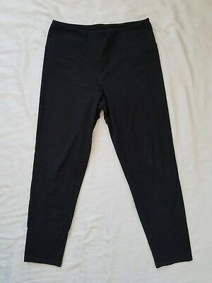 Women with Control Womens Black Pull On Pants Size S Slim Straight Legging Waist