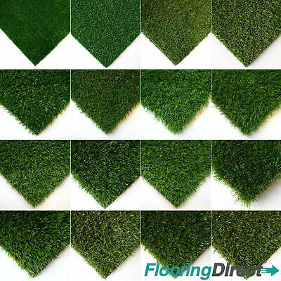 Artificial Grass Offcuts 1m x 4m - Fake Lawn - Realistic Astro Turf Garden CHEAP