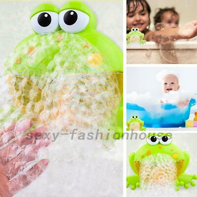 Kid Baby Frog Bubble Tub Automatic Shower Machine Blower Maker Bath Music Toy