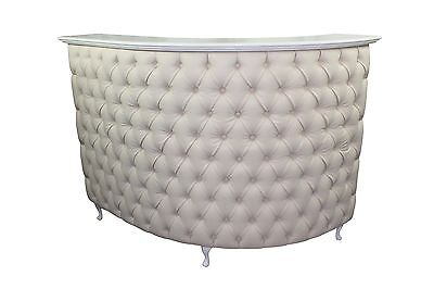 Curved L Shape Reception Desk with padded front - other colours available