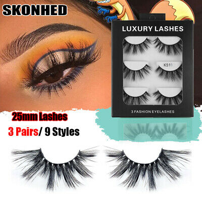 Thick Long 3D Soft Mink Hair 25mm Lashes False Eyelashes Eye Lash Extension