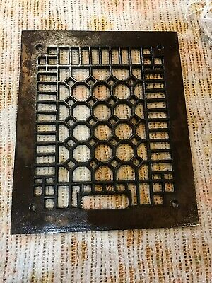 J 3 Antique honeycomb Cast-Iron Heating grate face 9.75 x 11.75