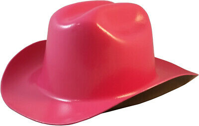 "Outlaw Cowboy Style Safety Hard Hat ""HOT PINK"" Ratchet Susp ANSI/OSHA Approved"