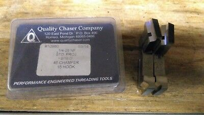 "GEOMETRIC 1/4""- 28 MILLED PROJ CHASERS FOR 9/16 D QUALITY,15 Deg HOOK,45 CHAMFER"