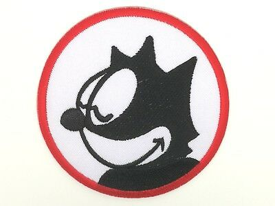 DIY Felix the Cat Classic Emblem Sew Iron-On Embroidered Applique Patch Badge