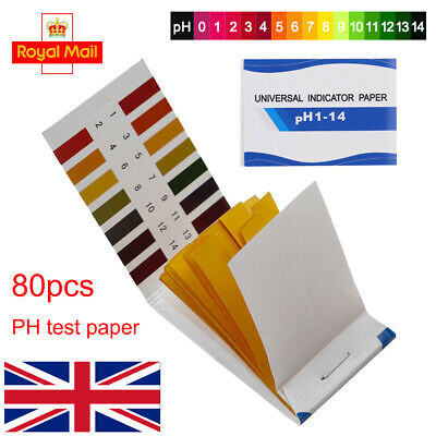 80 PH 1-14 Universal Test Paper Full Range Litmus Strips Tester Indicator Urine